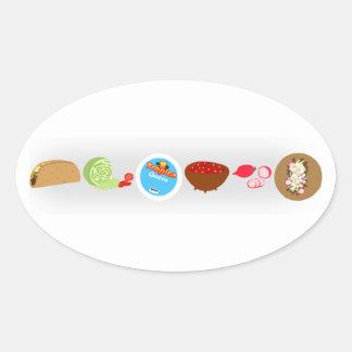 Taco Love Oval Sticker
