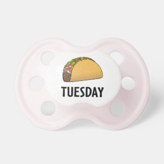 Taco martes chupete de bebé