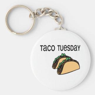 Taco martes llavero personalizado