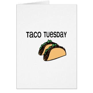 Taco martes tarjeta