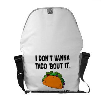 Taco Nacho Problem Courier Bag