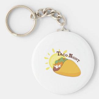 Taco Night Basic Round Button Keychain
