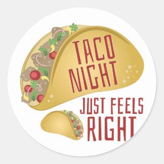 Taco Night Classic Round Sticker