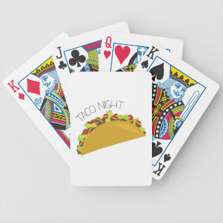 Taco Night Bicycle Playing Cards