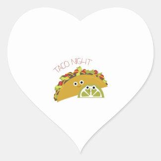 Taco Night Heart Sticker