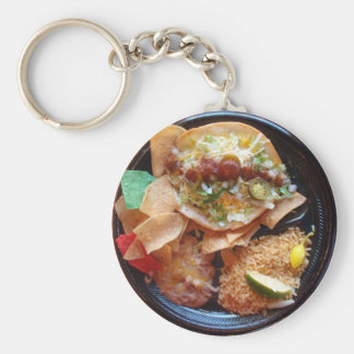 Taco Plate Special Basic Round Button Keychain