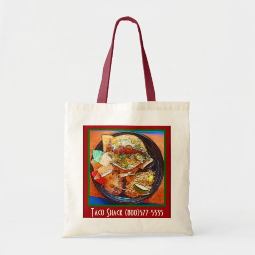Taco Plate Special  (Comic Style) Canvas Bag