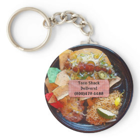 Customizable Taco Plate Special Keychain