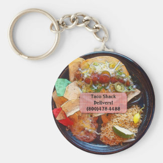 Taco Plate Special  (Comic Style) Basic Round Button Keychain