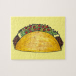 Taco Print Mexican Food Tacos Foodie Puzzle