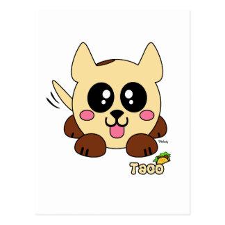 Taco Pudgie Pet Postcard