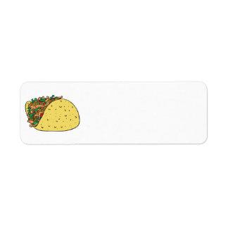 taco relleno estupendo etiqueta de remite