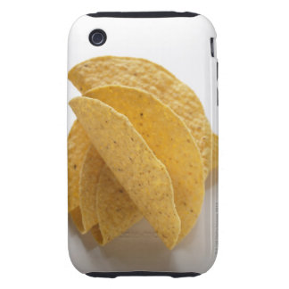 Taco shells on white background tough iPhone 3 cover