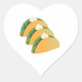 Taco Sour Cream Heart Sticker