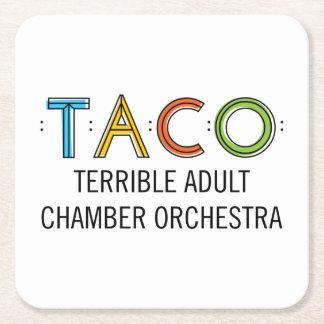 TACO Square Coasters (6) Square Paper Coaster