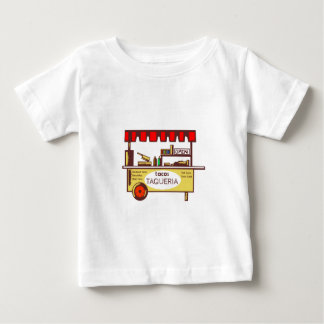Taco Stand Taqueria Stand Woodcut Baby T-Shirt