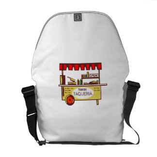 Taco Stand Taqueria Stand Woodcut Messenger Bag