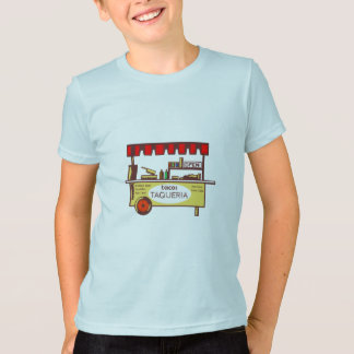 Taco Stand Taqueria Stand Woodcut T-Shirt