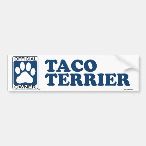 TACO TERRIER_blue Etiqueta De Parachoque