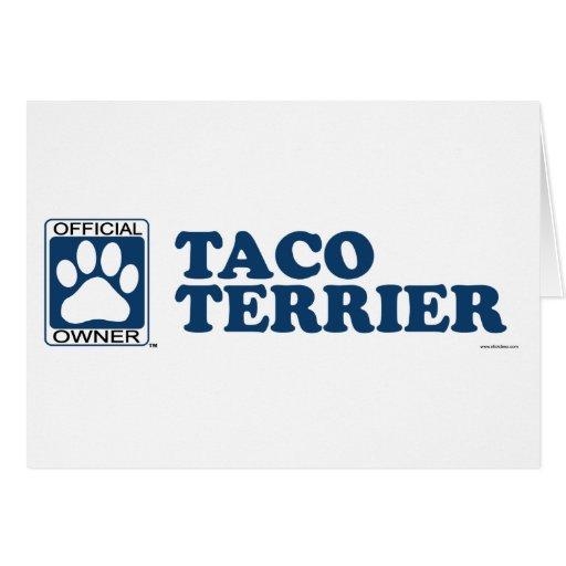 TACO TERRIER_blue Tarjetas