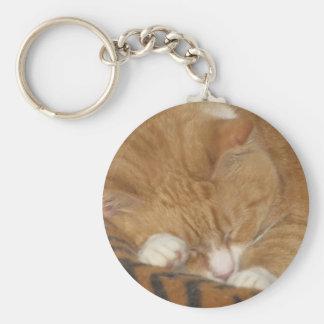 Taco the Siesta Cat Basic Round Button Keychain
