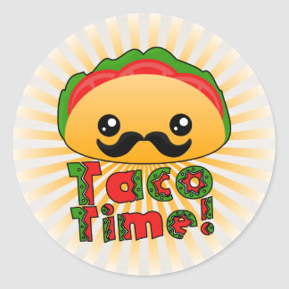 Taco Time Classic Round Sticker