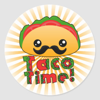 Taco Time Classic Round Sticker
