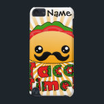 "Taco Time iPod Touch 5G Case<br><div class=""desc"">Get this super cute mustachioed taco design on a wide range of products! He&#39;s happy,  he&#39;s healthy and he&#39;s ready to be your friend!</div>"