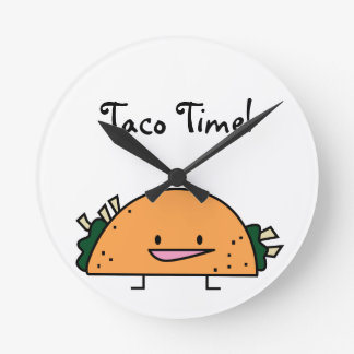 Taco Time Kitchen Wall Clock