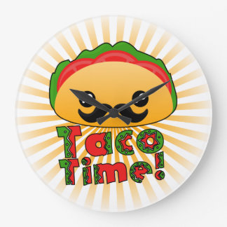 Taco Time Large Clock