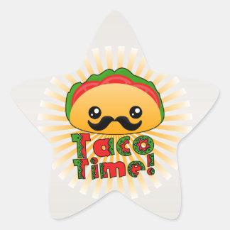 Taco Time Star Sticker