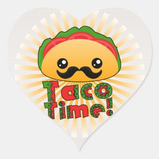 Taco Time Heart Sticker