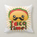 Taco Time Throw Pillows
