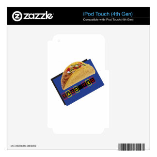 Taco TKO Classic Taco  design iPod Touch 4G Decal