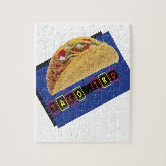 Taco TKO Classic Taco  design Jigsaw Puzzle