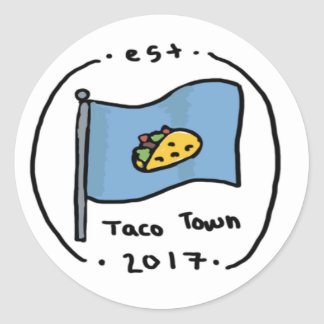 Taco Town Classic Round Sticker