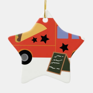 Taco Truck Ceramic Ornament