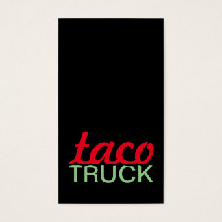 taco truck punch card