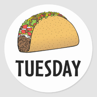 Taco Tuesday Classic Round Sticker
