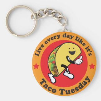 Taco Tuesday Every Day Keychain