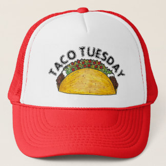 TACO TUESDAY Mexican Tex Mex Food Tacos Foodie Trucker Hat