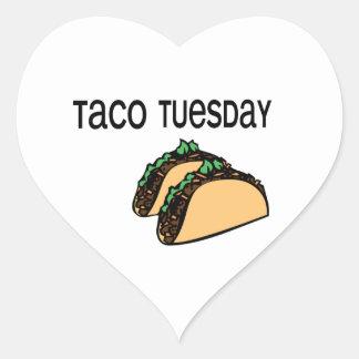 Taco Tuesday Heart Sticker