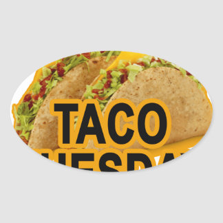 Taco tuesday tshirt.png oval sticker