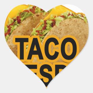 Taco tuesday tshirt.png heart sticker