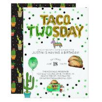 Taco TWOsday Birthday Invitation
