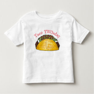Taco TWOsday Tuesday 2 Two Year Old Birthday Party Toddler T Shirt