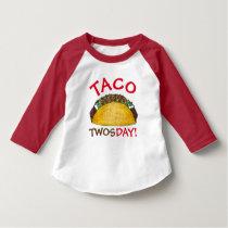 Taco TWOSday Tuesday 2nd Birthday Party Fiesta T-Shirt