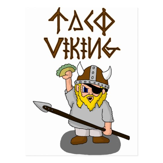 Taco Viking Postcard