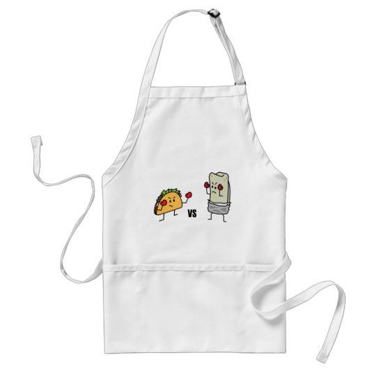 Taco vs Burrito Adult Apron