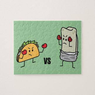 Taco vs Burrito Jigsaw Puzzle